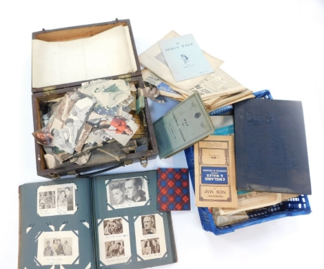 Various ephemera, Twain (Mark) A Dog's Life, bygone newspapers, other ephemera, motor electrical manual, map of central London, various other folding maps, and ephemera. (a quantity)