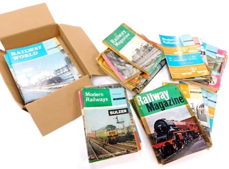 Various ephemera train and railway related, railway magazine to include the Railway Magazine May 1962, Modern Railways, etc. other related ephemera, etc. (a quantity)