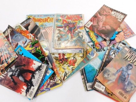 Pannapictagraphy, various comics, Marvel Thunder Cats, Wildstorm WS to include four of five Jan, other late 80's, early 90's, other Thunder Cats, etc. (a quantity)