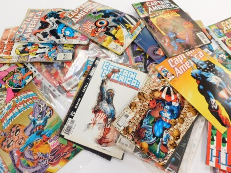 Pannapictagraphy, various comics, Avengers West Coast, other Marvel comics, Captain America 2001, and other Captain America. (a quantity)