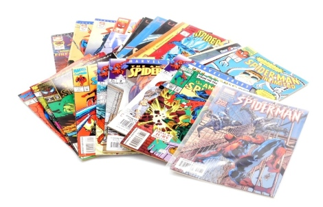 A group of Marvel Spiderman comics, to include Sins Past part 4, no.383 November, no.321, 1st September, 2nd October, 3rd November, 4th December, 3rd November, 258 Feb, 242 Jan 97, 17th December, 385 Jan, one 1st November direct edition 00511 issue 5, 6,