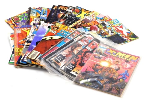 A group of Marvel Comics X-Men edition, to include #1, 243 April, 7 April, 201 Jan, 5th May, two November, 44911, 2, 3, 4, 15th November 1, 26th June 1996 9, 13th December 1995 2, July 96 56, 19 2 July, 95 October, 71 October, 97 December, 98 Jan, 96 Nove