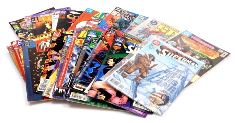 A group of DC Comics, relating to Superman, Batman, Justice League and others, Superman 118, 535, 36 (1996), 37 (1994) and 36 (1996), Batman September 2002, January 2001, 12th May 2004 7, 36, 535 vol 2 #1, no.3 May 92, 0 October 94, 122#700 and no.5 March