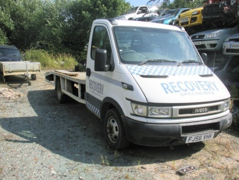 An Iveco recovery truck, registration FJ56 VHK, with YETI wince, 140,510 miles. Engine has been running but not been moved. Sold as seen, no V5.