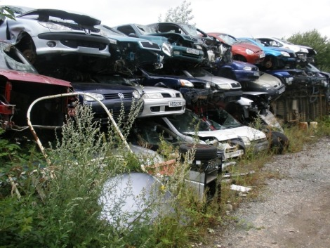 The Residual Scrap Vehicles on site together with other scrap hidden in the undergrowth. To include c95 cars, American motor home, five caravans, dumper truck, transit tipper, various van cabs, ambulance, lorry, trailer chassis's, building profile sheet,