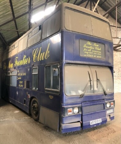 A 1984 Leyland Titan T970 double decker bus, A970 SYE, converted for use as a mobile bar and entertainment centre. For Sale by Tender. To be sold upon instructions from the Executors of R Ashley P Banks (Dec'd). Viewing: By Appointment with Auctioneers if