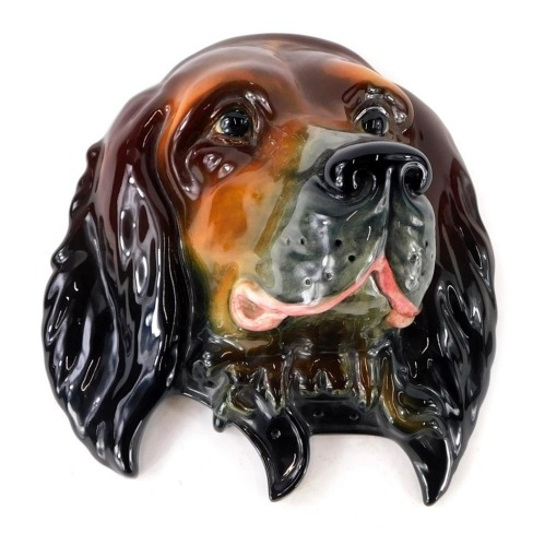 A large Beswick wall mask, modelled in the form of the head of a Red Setter, impressed number 668, 27cm wide.