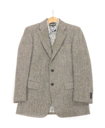 A gentleman's Harris tweed jacket, Anniversary Limited edition 2010, size to fit chest 36 regular, and a P.G.Field checked shirt, size small.