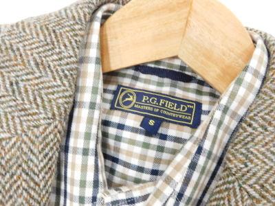 A gentleman's Harris tweed jacket, Anniversary Limited edition 2010, size to fit chest 36 regular, and a P.G.Field checked shirt, size small. - 2