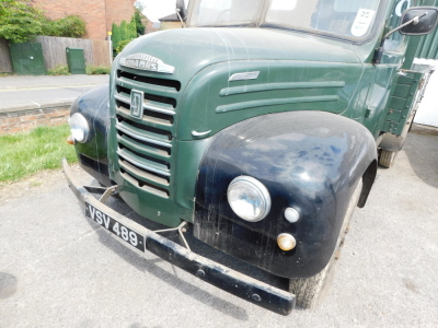A 1955 Ford Thames SWB lorry, registration VSV 489, twin axle historic vehicle with boarded flat bed, green, first or re-register date March 1986 after restoration project, odometer reading 8,664, tax expired 1st April 1997, with V5 present. - 15