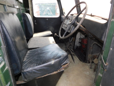 A 1955 Ford Thames SWB lorry, registration VSV 489, twin axle historic vehicle with boarded flat bed, green, first or re-register date March 1986 after restoration project, odometer reading 8,664, tax expired 1st April 1997, with V5 present. - 19