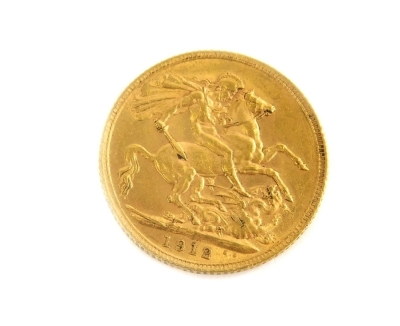A George V full gold sovereign, 1912. - 2