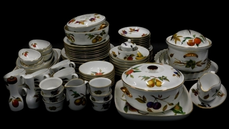 A large quantity of Royal Worcester Evesham pattern dinner and tea ware, to include tureens, shaped dishes, etc.