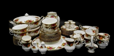 A large quantity of Royal Albert Old Country Roses pattern ceramics, to include dinner ware, tea ware, etc.