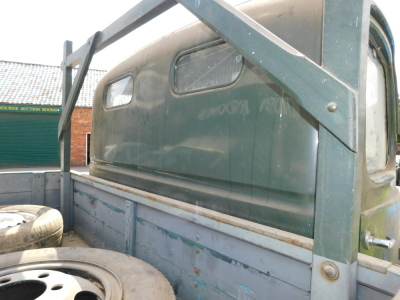 A 1955 Ford Thames SWB lorry, registration VSV 489, twin axle historic vehicle with boarded flat bed, green, first or re-register date March 1986 after restoration project, odometer reading 8,664, tax expired 1st April 1997, with V5 present. - 12