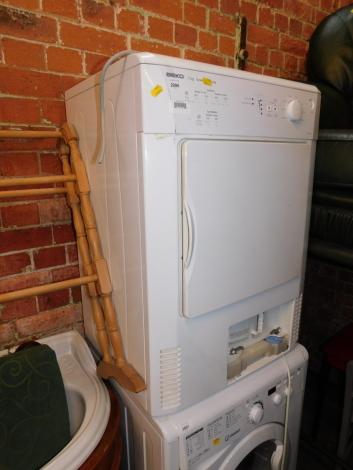 A Beko 7kg condenser dryer, model DRCT 70W.