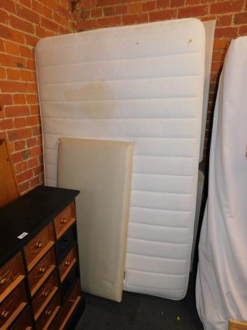A Silent Night double divan bed, mattress and headboard. (3)