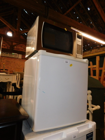 A Panasonic microwave, together with a counter top freezer. (2)