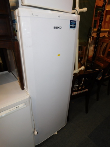 A Beko A Plus frost free upright freezer, model TFF546APW.