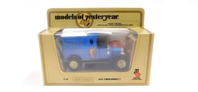 A limited edition Matchbox Models of Yesteryear van, made to celebrate the 75th Anniversary of Hoover, with signed certificate number 324 and original Hoover bag supplied with the item. - 2
