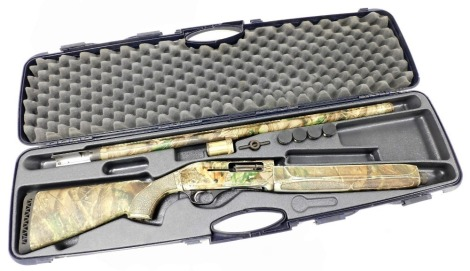 A EuroLion H368 Fabarm single barrel self loading shotgun, serial number 7006097, with camouflaged finish and original case. NB. A current valid Shotgun Certificate will be required to view and bid for this lot. The lot is to be sold BY TENDER with fina