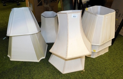 A group of various lamp shades.