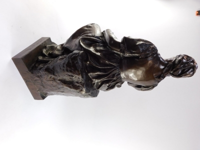 Paul Dubois (French, 1829-1905). A Barbedienne foundry bronze sculpture of Maternite, signed to reverse P Dubois, 80cm high. - 6