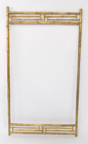 A Victorian aesthetic style faux bamboo gilt frame, 114cm high x 68cm wide.