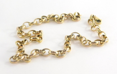 A 9ct gold large curb link neck chain, 45.5cm long, 12g.