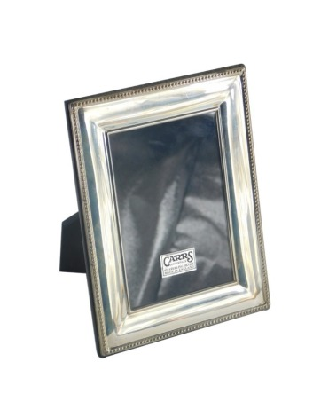 A Carrs Silverware silver photograph frame, of rectangular form with a beaded border, 18cm x 14cm, boxed.