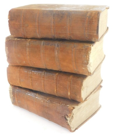 The New and Complete Dictionary of Arts and Sciences, volumes 1-4, printed by W. Owen at Homer's Head, Fleet Street, London, 1755, leather bound, (AF, 4).