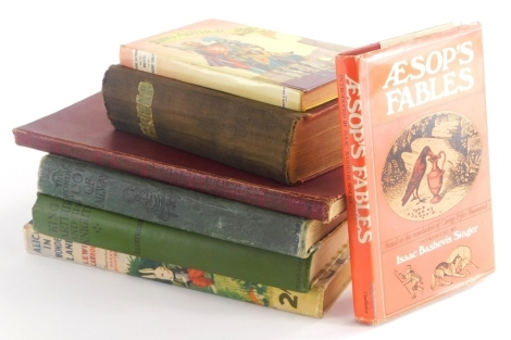 A collection of books, to include Aesop's Fables, Alice In Wonderland, The Wonder Book of Railway, King Arthur and His Knights, etc. (a quantity)