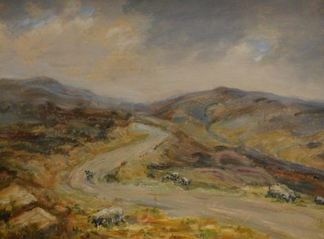 Margaret S. Dangerfield (20thC). Blakey Ridge, oil on board, signed and titled verso, 34cm x 44cm.