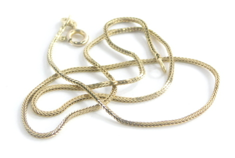 A 9ct gold Byzantine link neck chain, 38cm long, 3.1g.