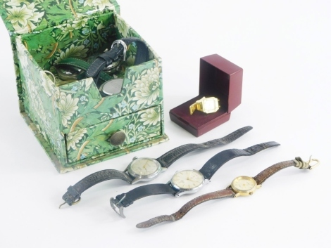 A group of gentleman's and ladies wristwatches, to include Tourist, Bulova, Smiths Astral, pocket watch and others, each in stainless steel cases. (a quantity)