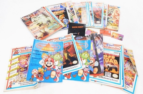 A small collection of Nintendo Club magazines.