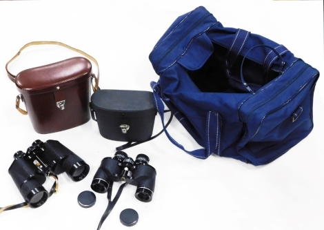 A pair of Zeiss Binoctem 7x50 binoculars, in a fitted case and a pair of Grampian Rover 8x30 binoculars, in a fitted case.